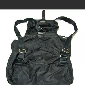 Black Prada Nylon and Leather small Backpack